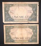 Doua bancnote de 1000 de lei din 23 martie 1943