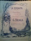 C. Braga La Serenata Legende Valaque Partitura Muzicala veche sec.XIX Litografie