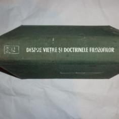 DESPRE VIETILE SI DOCTRINELE FILOZOFILOR AN 1963/851PAG= DIOGENES LAERTIOS