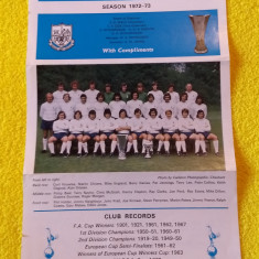 Foto (sezonul 1972/1973) fotbal - echipa TOTTENHAM HOTSPUR (autografe printate)