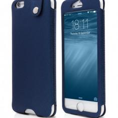 Husa Piele Ecologica Apple iPhone 6 iPhone 6s Smart Blue