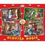 Puzzle Scufita Rosie. 4 imagini