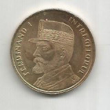No(4) moneda-ROMANIA- 50 bani 2019- FERDINAND INTREGITORUL, Cupru (arama)