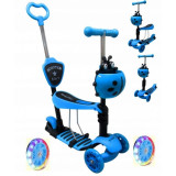 Cumpara ieftin Trotineta 5 in 1, roti cu LED, platforma antiderapanta, JR R-Sport - Albastru