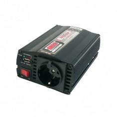 Convertor de tensiune 12V / 230V 300W / 600W, USB, cu protectie la suprasarcina
