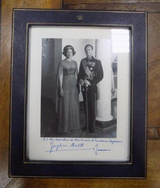 Fotografie Printesa Josephine Charlote de Luxemburg si printul Jean