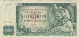 Bancnota Cehoslovacia 100 Korun 1961 - P91c VF