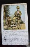 CP UPU Litografie Pastor Roman - circulata in 1906