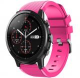 Cumpara ieftin Curea ceas Smartwatch Samsung Gear S3, iUni 22 mm Silicon Pink