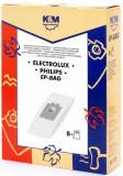Sac aspirator Electrolux-Philips Universal (S-Bag), hartie, 5X saci, KM, K&m