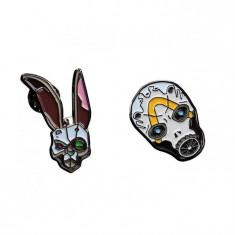 Set 2 Insigne Borderlands 3 Bunny And Psycho Mask