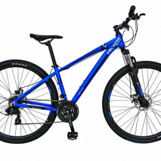 Bicicleta MTB HT FIVE Typhoon 29 cadru aluminiu culoare albastru alb
