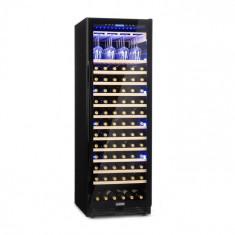Klarstein Vinovilla Onyx Grande, frigider pentru vin cu volum mare, 433 l, 165 sticle, negru