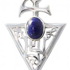 Talisman argint cu Lapis Lazuli Sigiliul lui Jupiter