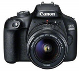 Aparat Foto D-SLR Canon EOS 4000D + EF-S 18-55mm DC III, 18 MP, Ecran 2.7inch LCD, Filmare Full HD (Negru)