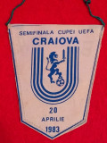Fanion fotbal UNIVERSITATEA CRAIOVA-BENFICA (semifinale Cupa UEFA 1983)