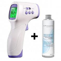 Cumpara ieftin Termometru digital non contact cu infrarosu iUni T6 + Solutie igienizanta pentru maini 250ml