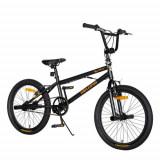 Cumpara ieftin Bicicleta BMX VELORS V2016A, roti 20inch, cadru otel 14inch, frane V-Brake (Negru/Portocaliu)