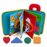 Cumpara ieftin Carte pentru copii mici, Aexya, material textil, 24 x 17 cm, Multicolor