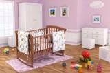 Cumpara ieftin Set patut bebe, cearceaf cu elastic pentru saltea 60x120x10, pernuta 37×55, pilota 100×105, aparatori 180x45, model Ursuleti