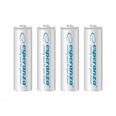 Baterii reincarcabile Ni-MH AA 2000MAH x4, Esperanza EZA104W