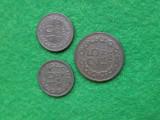 Monede 10 bani 1954, 10 bani 1956 si 25 bani 1952