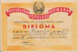 Diploma scolara RPR romaneasca perioada comunista