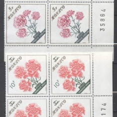 Monaco 1959 Flowers x 4, MNH S.262