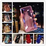 Husa tip oglinda cu model geometric 3D Prism Samsung Galaxy A7 2018 / A8 2018, Alt model telefon Samsung, Albastru, Argintiu, Auriu, Negru, Rosu, Roz, Turquoise, Alt material