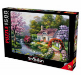 Cumpara ieftin Puzzle Anatolian Spring Cottage in Full Bloom, 1500 piese