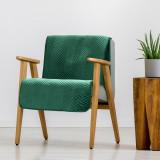 Cumpara ieftin Cuvertura fotoliu Sofia Velvet Verde inchis, 70 x 160 cm