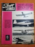 sport si tehnica august 1972-aeromodelism,art. traian vuia,motocicleta rediviva