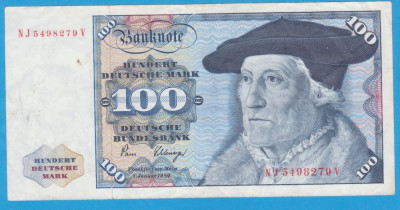 (1) BANCNOTA GERMANIA - 100 MARK 1980 (2 IANUARIE 1980) foto