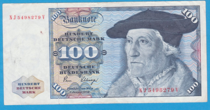 (1) BANCNOTA GERMANIA - 100 MARK 1980 (2 IANUARIE 1980)