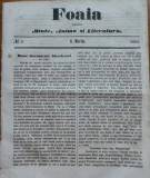 Foaia pentru minte , inima si literatura , nr. 8 , 1863 , Brasov , I. Muresanu