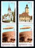 Romania 2004, LP 1652 a, Zeppelin Brasov, 2 serii viniete sus, MNH! LP 90,00 lei