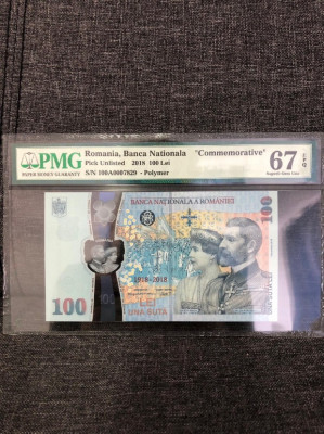 100 lei centenar gradata foto