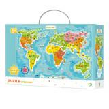 Puzzle - Continentele lumii - 100 piese, Dodo