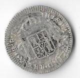 Moneda 1 real 1782 - Mexic sub Spania, 3,38 g argint 0,9030, cotatii ridicate!!!