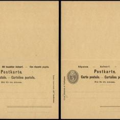 Switzerland - Postal History Rare Old Postal stationery + Reply UNUSED DB.175