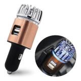 Cumpara ieftin Purificator de aer cu ozon 2-în-1 și încărcător auto dual USB pentru mașină, Oem