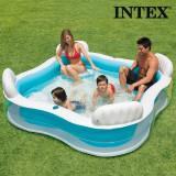 Piscina Gonflabila Familiala Summer cu Scaune Intex