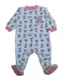 Salopeta / Pijama bebe cu capse si imprimeu Z07