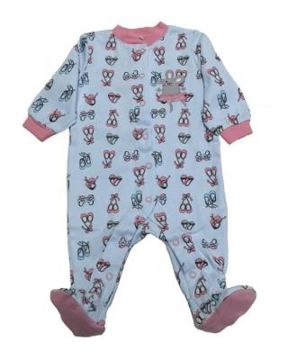 Salopeta / Pijama bebe cu capse si imprimeu Z07 foto