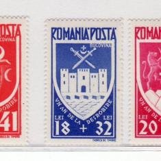 Romania  1942    Un  an   Bucovina