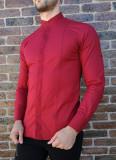 Cumpara ieftin Camasa tunica grena - camasa tunica LICHIDARE STOC camasa slim #215, M, XL, Maneca lunga