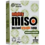 Supa Miso Instant cu Dovleac si Legume Bio 60gr King Cod: KS2002