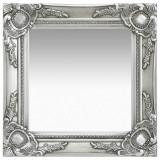Oglindă de perete în stil baroc, argintiu, 40 x 40 cm, vidaXL