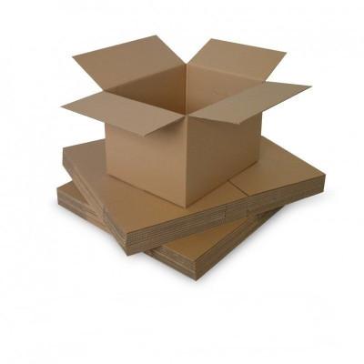 Cutie carton 150x100x150, natur, 3 straturi CO3, 435 g/mp foto