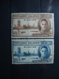 PITCAIRN ISLANDS 1946 SERIE MH GEORGE VI, Nestampilat